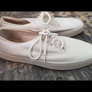 Classic White Leather Keds
